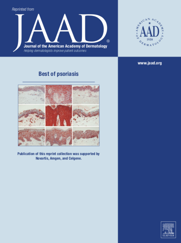"JAAD ""Best of psoriasis"" Issue Cover"